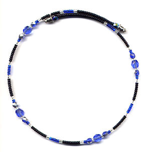 Blue Memory Wire Necklace by Dragon
