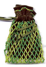 Olive Zig Zag Coin Bag by Dragon