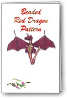 3D Beaded Red Dragon