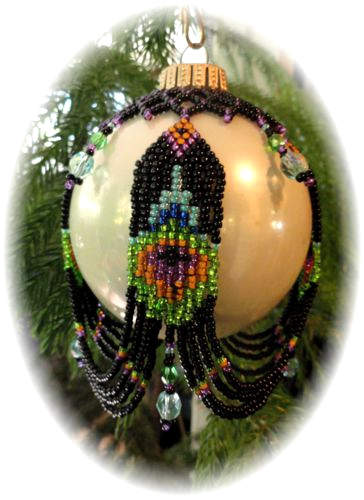 Peacock Feather Sweep Christmas Ornament