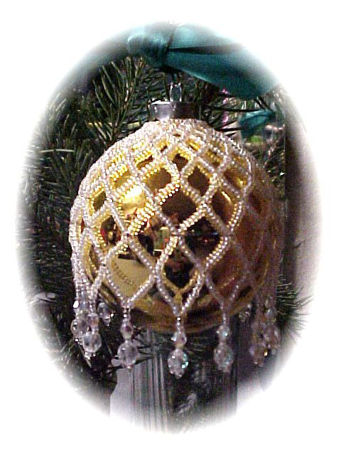 Zig Zag White Christmas Ornament