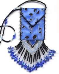 Music Notes Amulet Bag Pattern & Kit