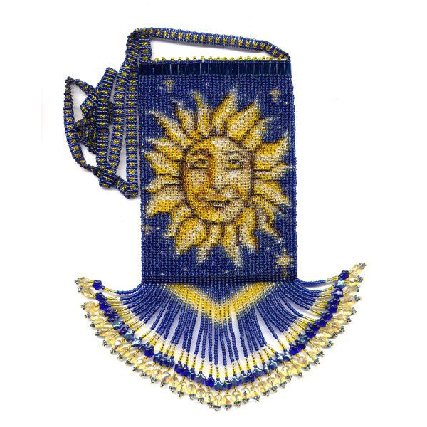 Celestial Fringe Bag with Strap