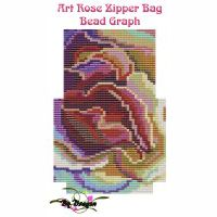Art Rose Zipper Bag, Bead Graph, Instructions & Kit