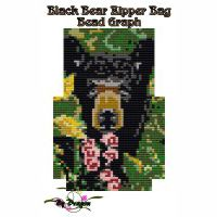 Black Bear Zipper Bag