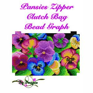 Pansies Clutch Bag