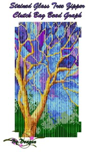 Stained Glass Tree Clutch Bag