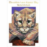 Mountain Lion Zipper Bag