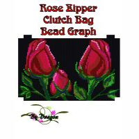 Rose Clutch Bag Bead Graph, Instructions and Kit