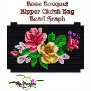 Rose Bouquet Clutch Bag Bead Graph, Instructions and Kit