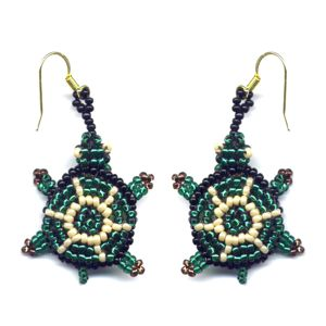 3D Turtle Earrings