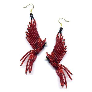 3D Cardinal Earrings