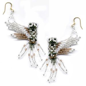 3D White Owl Earrings