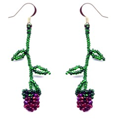 Rose Bud Weave Earrings