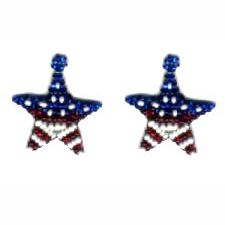Patriotic Star Weave Earrings