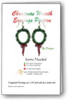 Christmas Wreath Earring