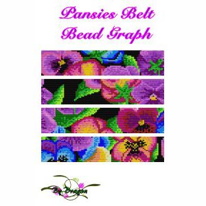 Pansies Belt