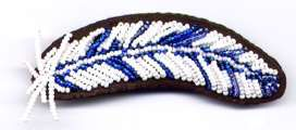 Feather on Leather Barrette Blue Kit Only