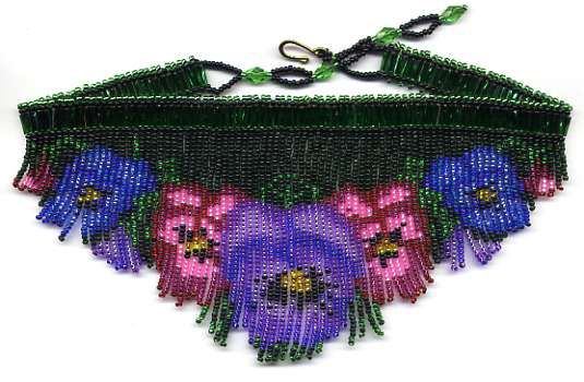 Pansy Fringe Necklace