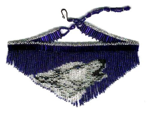 Wolf Blue Fringe Necklace