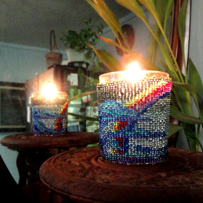 Rainbow Sky Candle Holder
