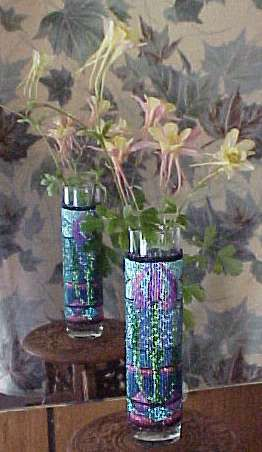 Stained Glass Bud Vase