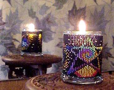 Beaded Star Dust Candle Holder!
