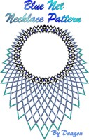 Blue Net Necklace