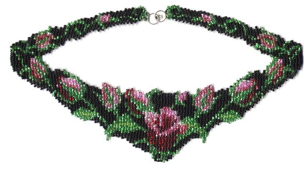 Rose Garden Weave Necklace Pattern and Kit