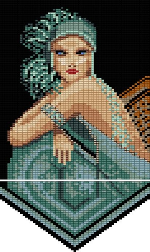 Teal Flapper Tapestry