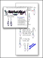 Alexandrite Wire Earring Pattern and Kit