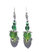 Moon Green Wire Earring Pattern and Kit