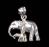 Elephant #1 Pendant Sterling Silver