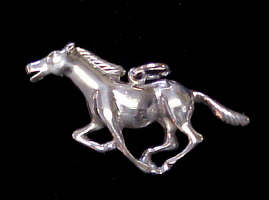 Horse Pendant Sterling Silver