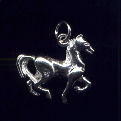 Horse Pendant #2 Sterling Silver