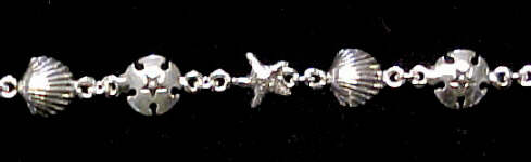 Sea Shore 10 inch Bracelet Sterling Silver