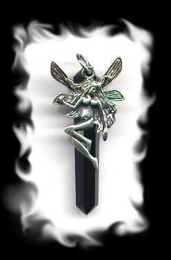 Fairy Black Shard Pendant Sterling Silver