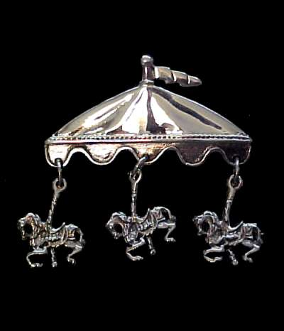 Carousel Pin Sterling Silver