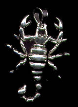 Scorpion Wiggle Arms & Legs Pendant Sterling Silver