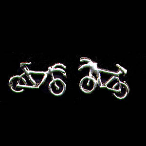 Bicycle Sterling Silver Post Earrings