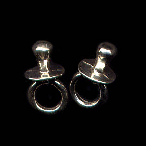Binky Sterling Silver Post Earrings