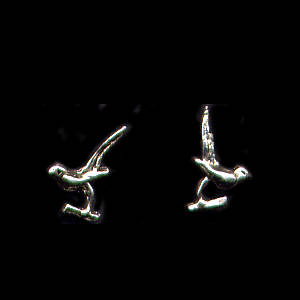 Birds Sterling Silver Post Earrings