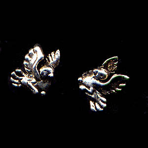Birdy Sterling Silver Post Earrings