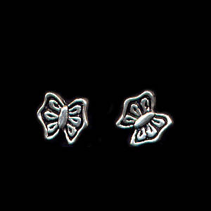 Butterfly Sterling Silver Post Earrings