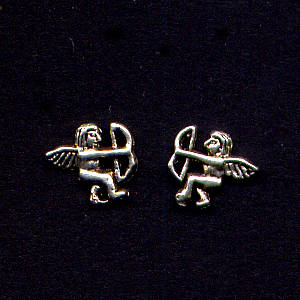 Cherub Sterling Silver Post Earrings