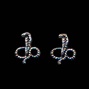 Cobra Sterling Silver Post Earrings
