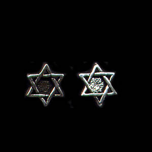 Star of David Sterling Silver Post Earrings