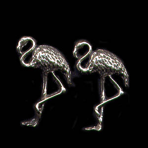 Flamingos Sterling Silver Post Earrings