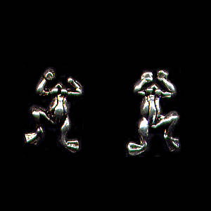Frogs Sterling Silver Post Earrings