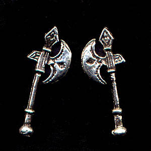 Hatchet Sterling Silver Post Earrings